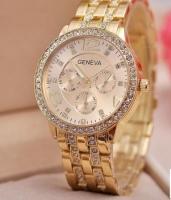 Женские классические часы Geneva Gold