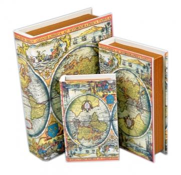 Фото - Книга-шкатулка Карты мира 3шт. купить в киеве на подарок, цена, отзывы
