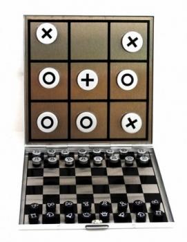 Фото - Мини-игра 2 в 1 Шахматы + крестики-нолики купить в киеве на подарок, цена, отзывы