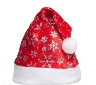 Фото - Шапка Деда Мороза со снежинками купить в киеве на подарок, цена, отзывы