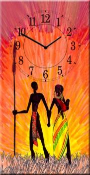 Фото - Часы на холсте Закат 25х50 купить в киеве на подарок, цена, отзывы