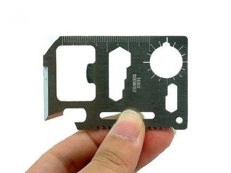 Фото - Мультивизитка ключ 11 в 1 купить в киеве на подарок, цена, отзывы