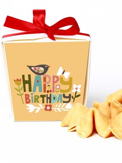 Фото - Печенье с предсказаниями на День Рождения  купить в киеве на подарок, цена, отзывы