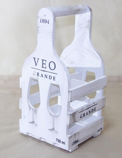 Фото - Винная подставка бокал на 4 бутылки купить в киеве на подарок, цена, отзывы