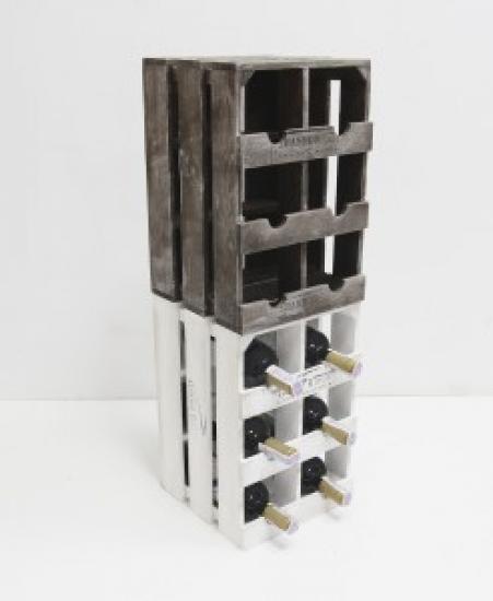 Фото - Подставка для вина ящик на 6 бутылок модульный вертикальный купить в киеве на подарок, цена, отзывы