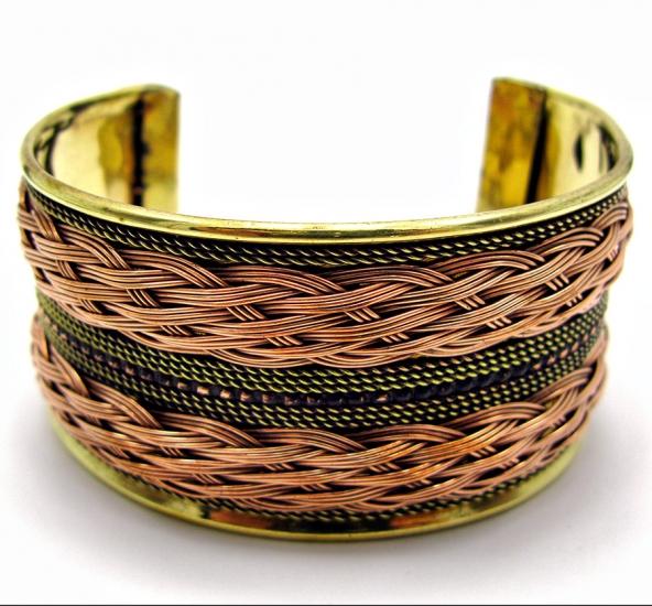 Фото - Браслет медный узор из плетения купить в киеве на подарок, цена, отзывы