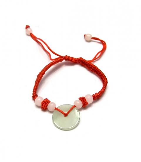 Фото - Браслет нефритовый диск красный купить в киеве на подарок, цена, отзывы