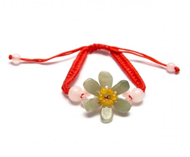 Фото - Браслет нефритовый цветок купить в киеве на подарок, цена, отзывы