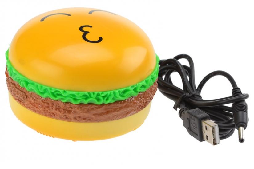 Фото - Гамбургер - массажер с USB купить в киеве на подарок, цена, отзывы