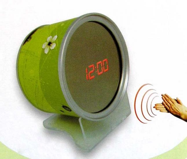 Фото - Часы - зеркало - банка (лого) купить в киеве на подарок, цена, отзывы