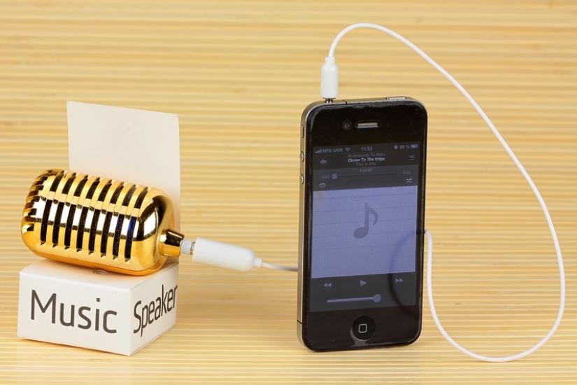 Фото - Золотой микрофон - спикер купить в киеве на подарок, цена, отзывы