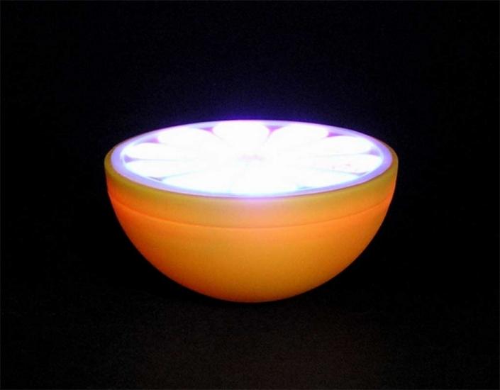 Фото - Лимон плавающий - светильник купить в киеве на подарок, цена, отзывы