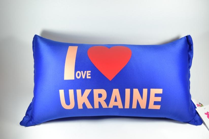 Фото - Подушка антистресс I love Ukraine 46см купить в киеве на подарок, цена, отзывы