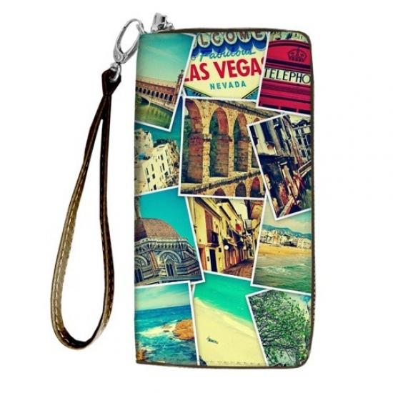 Фото - Кошелёк клатч тканевый путешествуй купить в киеве на подарок, цена, отзывы