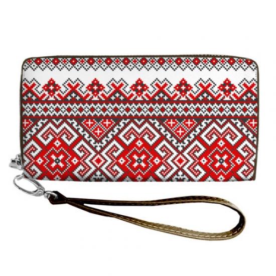 Фото - Кошелёк клатч тканевый с орнаментом купить в киеве на подарок, цена, отзывы