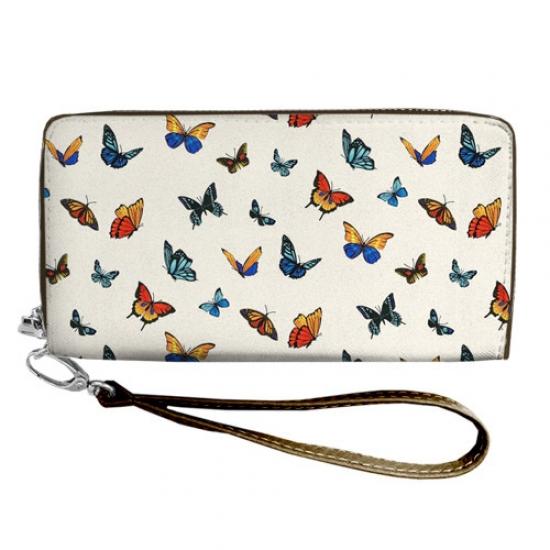 Фото - Кошелёк клатч тканевый бабочки купить в киеве на подарок, цена, отзывы