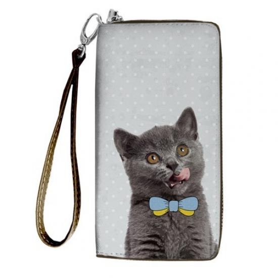 Фото - Кошелёк клатч тканевый украинский котик купить в киеве на подарок, цена, отзывы