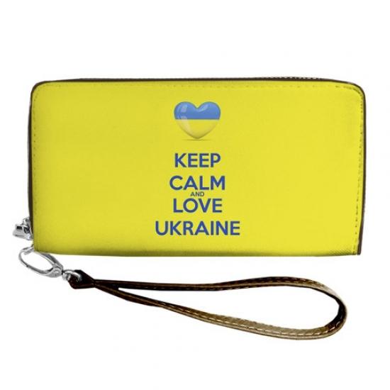 Фото - Кошелёк клатч тканевый Keep Calm  купить в киеве на подарок, цена, отзывы