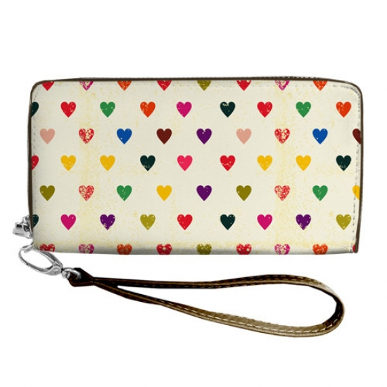 Фото - Кошелёк клатч тканевый разноцветная любовь купить в киеве на подарок, цена, отзывы