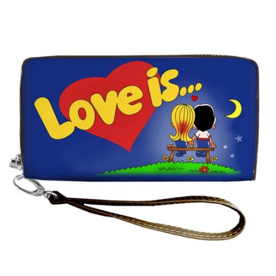 Фото - Кошелёк клатч тканевый Love is купить в киеве на подарок, цена, отзывы