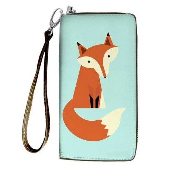Фото - Кошелёк клатч тканевый лиса купить в киеве на подарок, цена, отзывы
