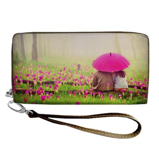 Фото - Кошелёк клатч тканевый под одним зонтом купить в киеве на подарок, цена, отзывы