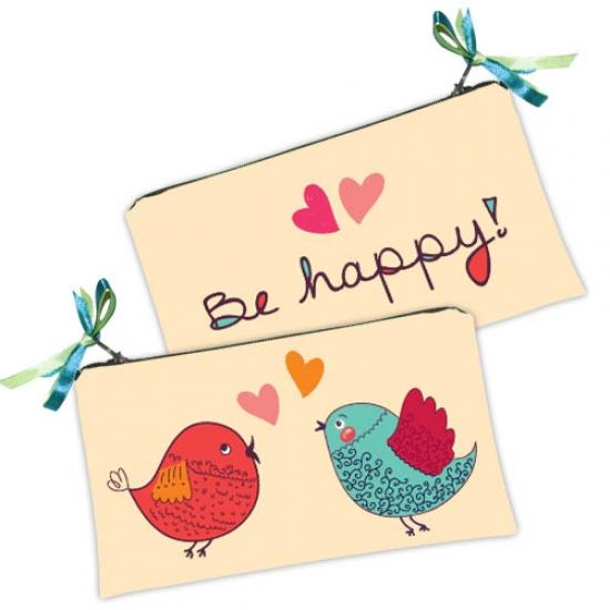 Фото - Косметичка-кошелек птенчики happy купить в киеве на подарок, цена, отзывы