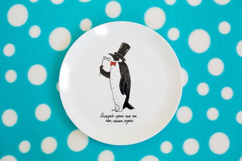 Фото - Тарелка Пингвин купить в киеве на подарок, цена, отзывы