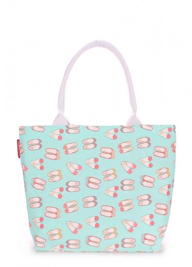 Фото - Тканевая сумка PoolParty Blue Shoes купить в киеве на подарок, цена, отзывы