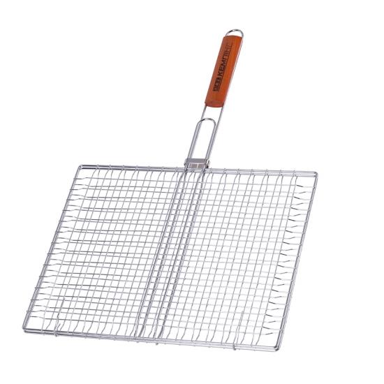 Фото - Двойная хромированная решетка с деревянной ручкой купить в киеве на подарок, цена, отзывы
