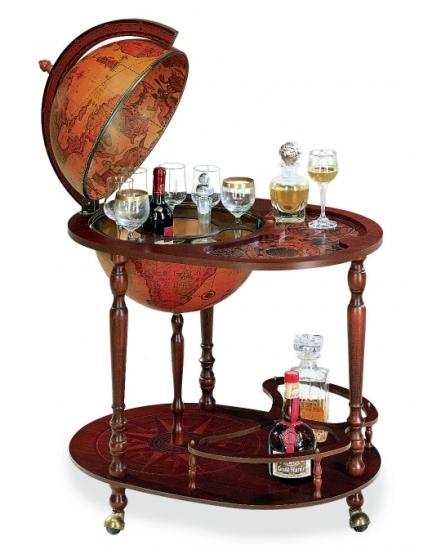 Фото - Глобус бар коричневый Zoffoli купить в киеве на подарок, цена, отзывы