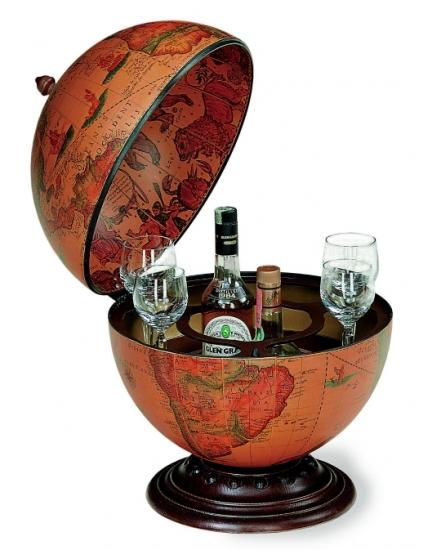 Фото - Глобус бар напольный коричневый круглый купить в киеве на подарок, цена, отзывы