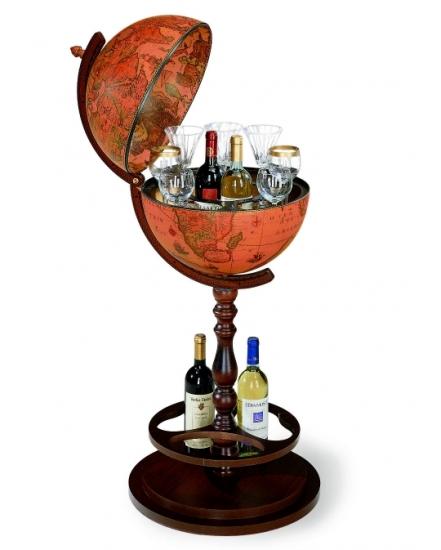 Фото - Глобус бар напольный коричневый на ножке купить в киеве на подарок, цена, отзывы