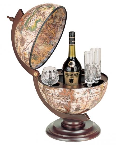 Фото - Глобус бар коричневый мир в ладонях купить в киеве на подарок, цена, отзывы