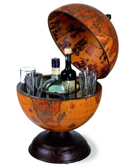 Фото - Глобус бар настольный коричневый низкий купить в киеве на подарок, цена, отзывы