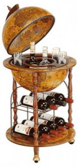 Фото - Глобус бар напольный коричневый Santeli купить в киеве на подарок, цена, отзывы