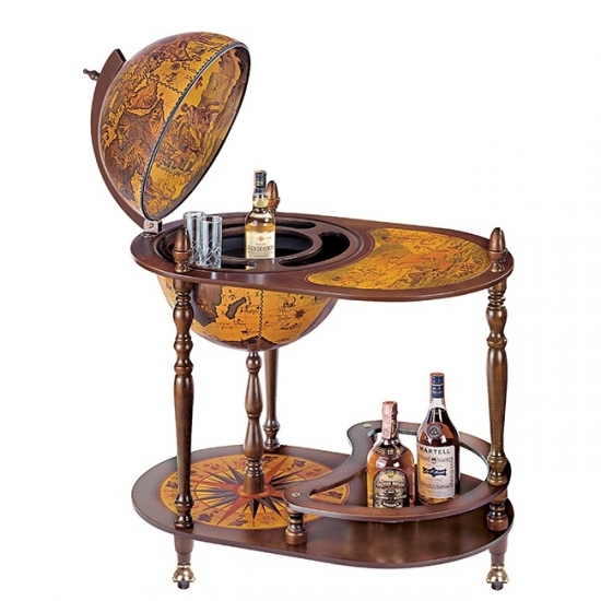 Фото - Глобус бар напольный коричневый овальный купить в киеве на подарок, цена, отзывы