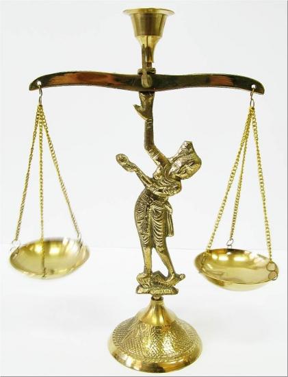 Фото - Бронзовый подсвечник весы купить в киеве на подарок, цена, отзывы