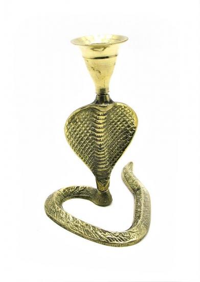 Фото - Подсвечник бронзовый Кобра купить в киеве на подарок, цена, отзывы