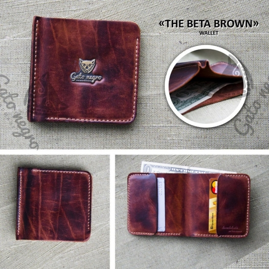 Фото - Кошелек Beta Brown купить в киеве на подарок, цена, отзывы