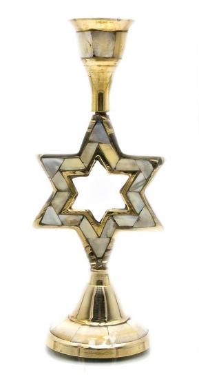 Фото - Подсвечник бронзовый с перламутром Звезда купить в киеве на подарок, цена, отзывы