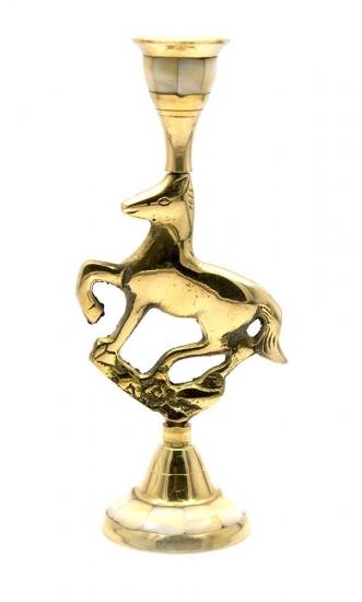 Фото - Подсвечник бронзовый с перламутром конь купить в киеве на подарок, цена, отзывы
