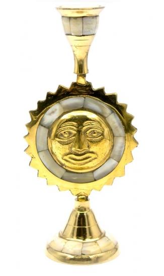 Фото - Подсвечник бронзовый с перламутром Солнце купить в киеве на подарок, цена, отзывы
