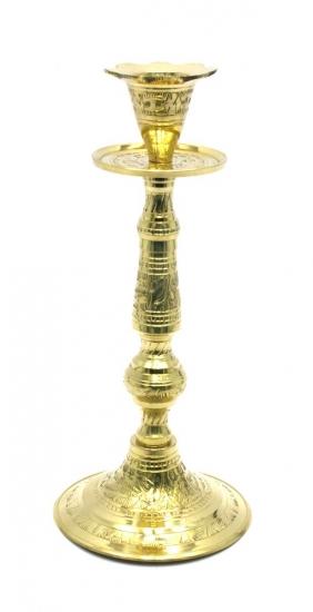 Фото - Подсвечник бронзовый цветной на длинной ножке купить в киеве на подарок, цена, отзывы