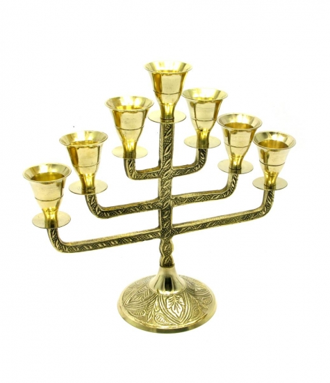 Фото - Подсвечник менора бронзовый на 7 свечей фонарь купить в киеве на подарок, цена, отзывы