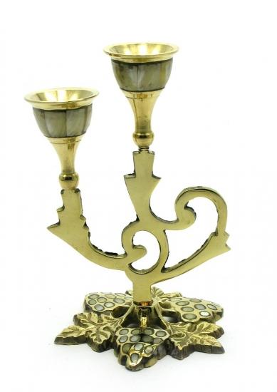 Фото - Подсвечник на 2 свечи бронзовый с перламутром купить в киеве на подарок, цена, отзывы