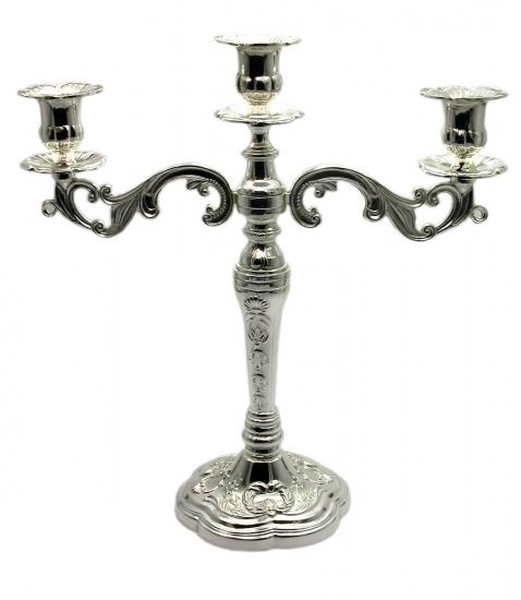 Фото - Подсвечник на 3 свечи серебро большой купить в киеве на подарок, цена, отзывы
