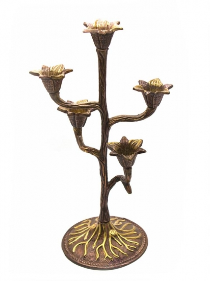 Фото - Подсвечник на 5 свечей бронзовый купить в киеве на подарок, цена, отзывы