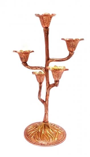 Фото - Подсвечник на 5 свечей бронзовый цветок купить в киеве на подарок, цена, отзывы