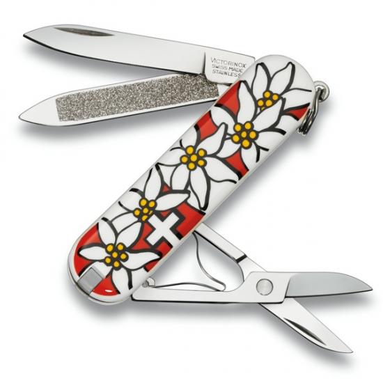Фото - Нож Victorinox Classic SD Edelweiss купить в киеве на подарок, цена, отзывы